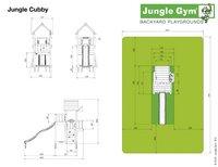 Jungle Gym tour de jeu en bois Cubby avec toboggan vert-Détail de l'article