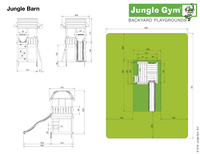 Jungle Gym Houten speeltoren Barn met gele glijbaan-Artikeldetail