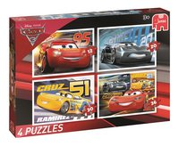 Jumbo Puzzle 4 en 1 Disney Cars 3