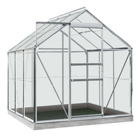 ACD Serre Intro Grow Daisy 3.8 m² aluminium-Vooraanzicht