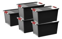 Kis Opbergbox Bi-Box black/red/transparant 54 l - 5 stuks