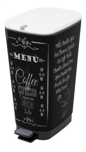 Kis Pedaalemmer Chic Bin Coffee Menu zwart/wit