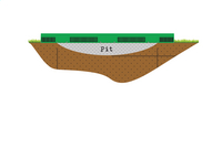 EXIT trampoline enterré InTerra diamètre 3,66 m vert-Détail de l'article