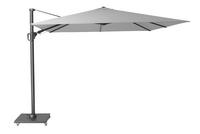 Platinum parasol suspendu Challenger T2 aluminium 3 x 3 m gris clair-Côté gauche