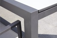 Jati & Kebon verlengbare tuintafel Livorno lichtgrijs/antraciet 220 x 106 cm-Afbeelding 1