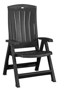 Jardin chaise de jardin réglable Corfu gris graphite