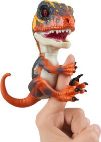 WowWee figurine interactive Fingerlings Untamed Velociraptor Blaze-commercieel beeld