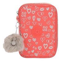 Kipling pennenzak 100 Pens Hearty Pink Met-Vooraanzicht