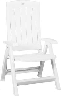 Jardin chaise de jardin réglable Corfu blanc-Avant