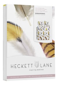 Heckett & Lane Housse de couette Lopez Citrus yellow flanelle 260 x 220 cm-Côté gauche