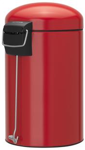 Brabantia poubelle à pédale Retro Bin Passion Red 12 l -Arrière