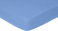 Sleepnight drap-housse bleu en flanelle 140 x 200 cm-Avant
