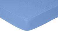 Sleepnight hoeslaken blauw katoen 180 x 200 cm