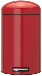 Brabantia poubelle à pédale Retro Bin Passion Red 12 l -Avant