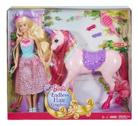 Barbie speelset Endless hair Kingdom prinses en eenhoorn-Vooraanzicht