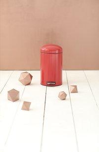 Brabantia poubelle à pédale Retro Bin Passion Red 12 l -Image 1