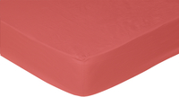 Sleepnight drap-housse rouge en flanelle 90 x 200 cm