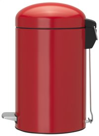 Brabantia poubelle à pédale Retro Bin Passion Red 12 l -Côté gauche