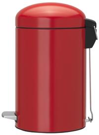 Brabantia pedaalemmer Retro Bin Passion Red 12 l-Linkerzijde