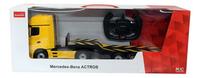 Rastar auto's RC Mercedes Actros + AMG GT geel-Vooraanzicht