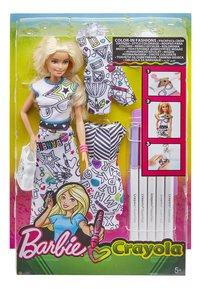 Barbie poupée mannequin Crayola fashion-Avant