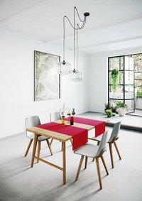 Mistral Home Tafellaken Uniline rood 140 x 240 cm-Afbeelding 5