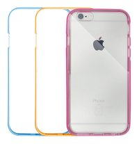 bigben bumper case voor iPhone 6/6S neon - 3 stuks