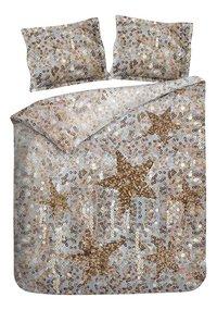 Heckett & Lane Housse de couette Lewis Shimmer gold coton 140 x 220 cm-commercieel beeld