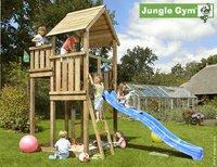 Jungle Gym tour de jeu en bois Palace avec toboggan bleu