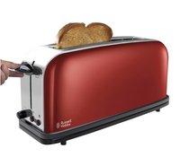 Russell Hobbs Broodrooster Colours Plus Long slot flame red-Afbeelding 1