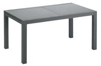 Jati & Kebon verlengbare tuintafel Livorno zwart/antraciet 152 x 90 cm