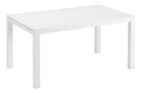 Jati & Kebon table de jardin à rallonge Livorno blanche 152 x 90 cm
