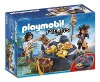 Playmobil Pirates 6683 Koninklijke schatkist-Vooraanzicht