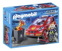 Playmobil City Action 9235 Brandweerman met interventievoertuig