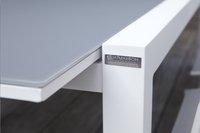 Jati & Kebon verlengbare tuintafel Livorno lichtgrijs/wit 220 x 106 cm-Afbeelding 1