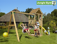 Jungle Gym schommel met speeltoren Club en gele glijbaan