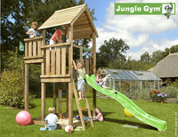 Jungle Gym tour de jeu en bois Palace avec toboggan vert