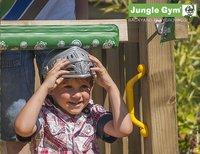 Jungle Gym houten speeltoren Palace met gele glijbaan-Afbeelding 4