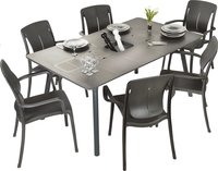 Grosfillex table de jardin Connection anthracite 160 x 100 cm -Image 3
