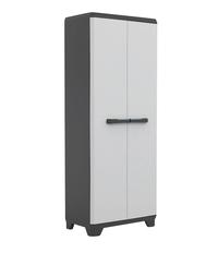 Kis Armoire en matière synthétique Linear High Cabinet gris clair/noir/bleu