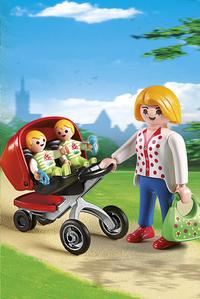 Playmobil City Life 5573 Maman avec jumeaux et landau-Image 1