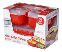 Sistema 3 microgolfovenschalen Microwave Heat & Eat Rectangle-Rechterzijde