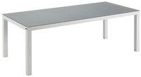 Table de jardin Danli avec verre gris clair/blanc L 220 x Lg 100 cm