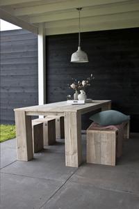 Dutchwood banc de jardin brun L 200 x Lg 40 cm-Image 1
