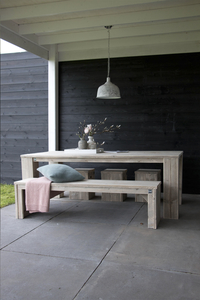 Dutchwood banc de jardin brun L 200 x Lg 40 cm-Image 3