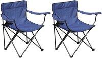 Set de 2 fauteuils de camping Bahia bleu