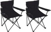 Set de 2 fauteuils de camping Bahia noir