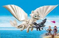 PLAYMOBIL Dragons 70038 Furie Éclair et bébé dragon avec les enfants-Image 1