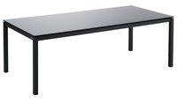 Jati & Kebon Table de jardin Djerba noir/anthracite L 220 x Lg 100 cm