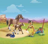 PLAYMOBIL Spirit 70122 Apo avec cheval et poulain-Image 1